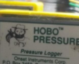 Early HOBO pressure data logger with HOBO icon