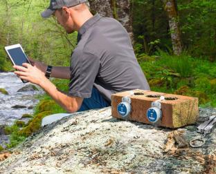 HOBO Data Loggers are helping monitor river activity
