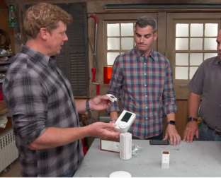 Ask This Old House hosts talking about indoor air quality and how to measure it using devices like HOBO data loggers