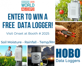 Enter to Win a Data Logger by Visiting the Onset Booth at World Ag Expo 2019!