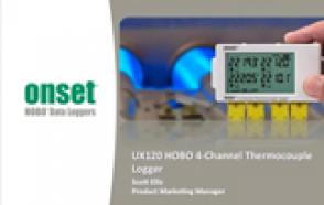 New HOBO UX120 Thermocouple 4-Channel Data Logger
