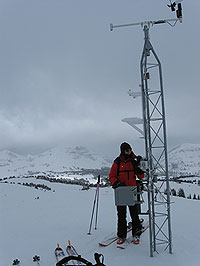 HOBO weather station, micro station, avalanche research, Gallatin National Forest, GNFAC