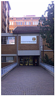 Council for Geosciences in Pretoria, South Africa